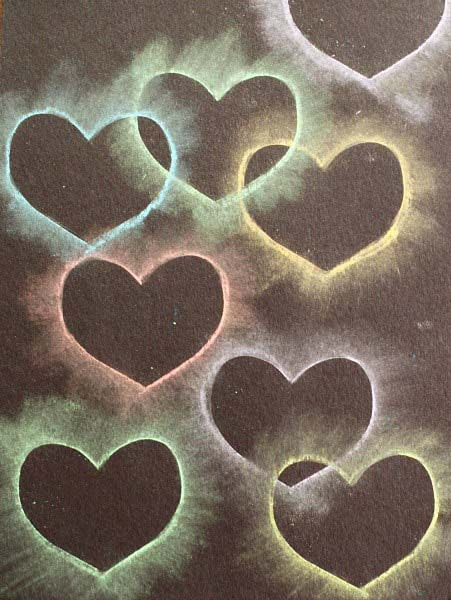 Chalk Stencil Heart Collage #valentine #crafts #kids #decorhomeideas