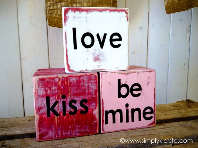 Conversation Love Blocks #valentine #dollarstore #diy #decor #decorhomeideas
