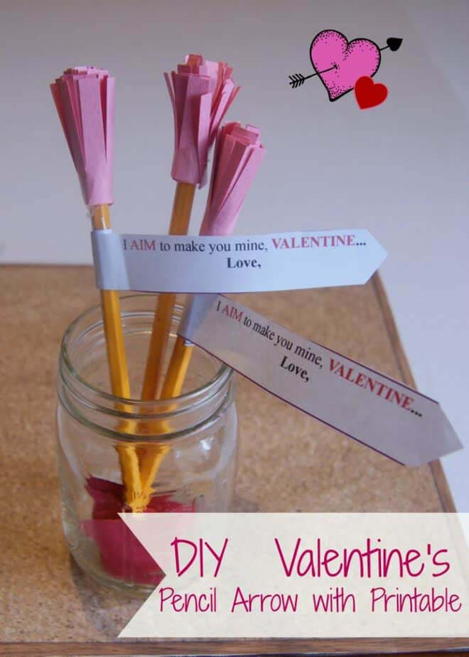 Cupid Arrow Valentines #valentine #crafts #kids #decorhomeideas