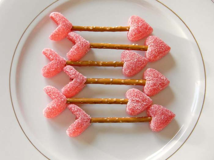 Cupid Arrows Treats #valentine #crafts #kids #decorhomeideas