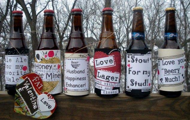 Custom beer bottles #valentinesday #gifts #diy #decorhomeideas