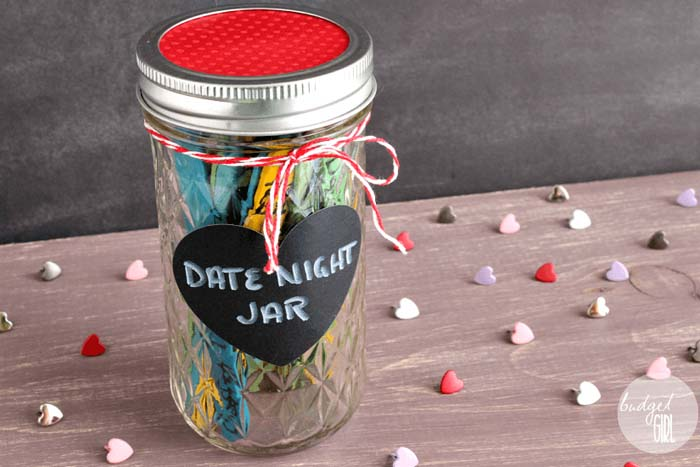 Date Night Jar Idea #valentinesday #gifts #diy #decorhomeideas