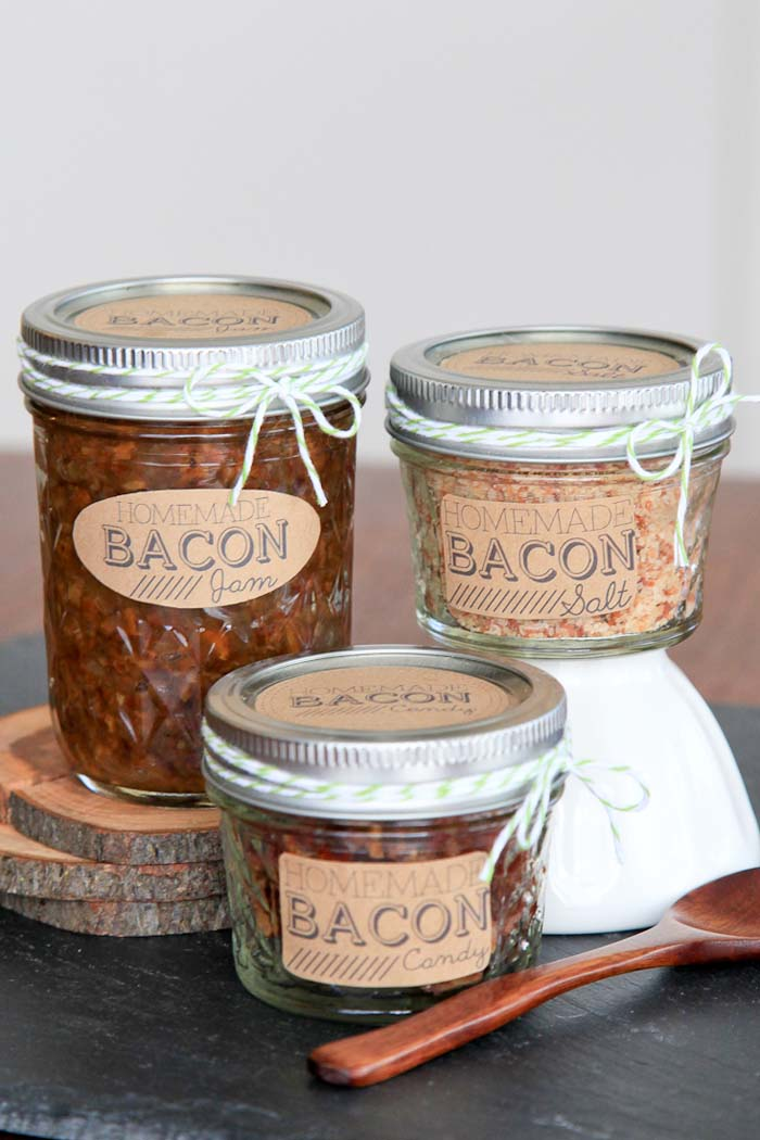 DIY Bacon Gifts #valentinesday #crafts #jars #gifts #decorhomeideas