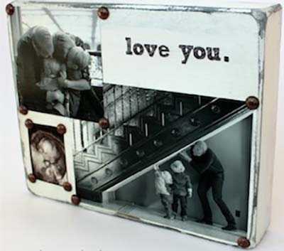DIY distressed Photo Block #valentinesday #gifts #diy #decorhomeideas