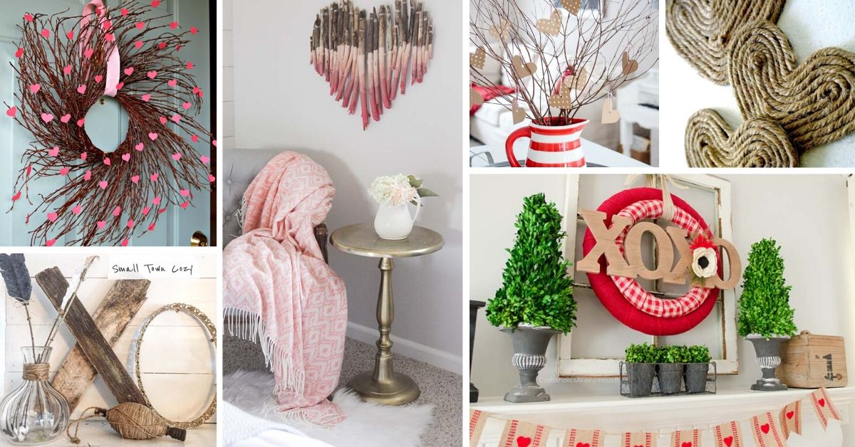 DIY Rustic Valentines Day Decor Ideas