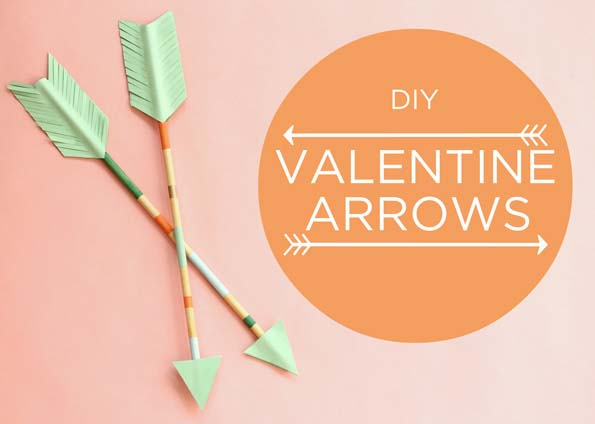 DIY Valentine Arrows #valentine #dollarstore #diy #decor #decorhomeideas
