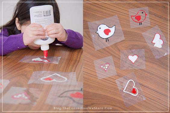 DIY Window Clings #valentine #crafts #kids #decorhomeideas