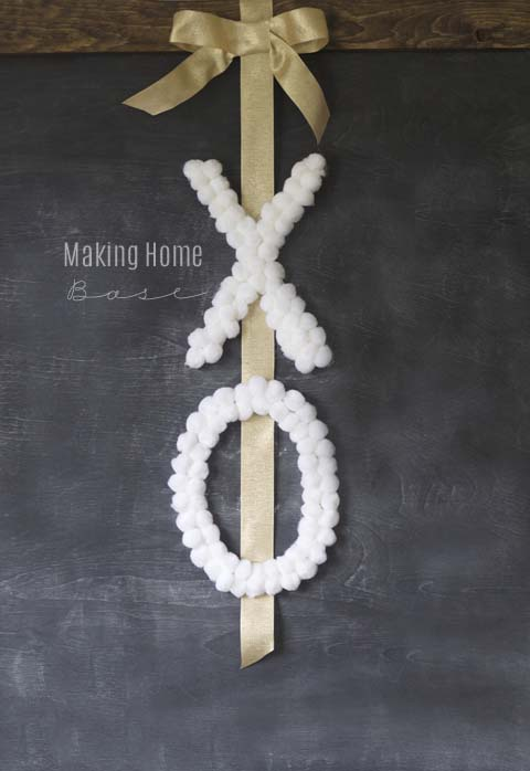 DIY XO Wreath #valentine #dollarstore #diy #decor #decorhomeideas