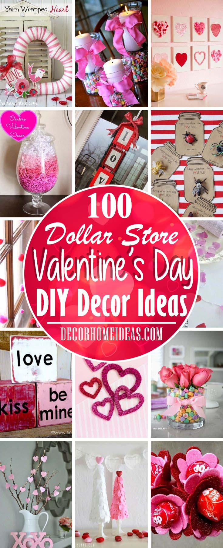 Dollar Store DIY Valentines Day Decorations #diy #valentines #decor #decorhomeideas