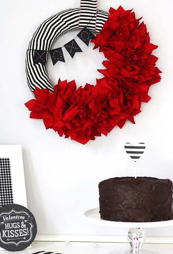 Fabric Punch Ruffle Wreath