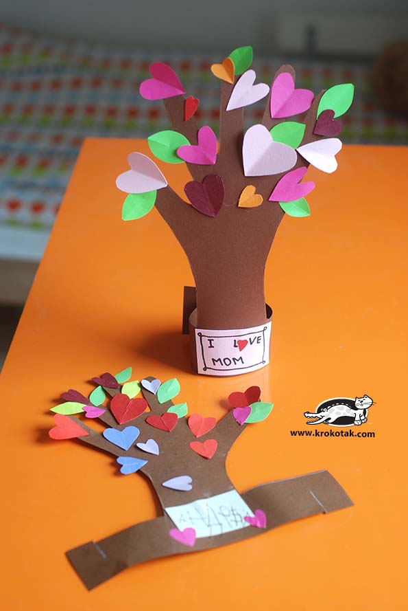 Flowering Tree #valentine #crafts #kids #decorhomeideas