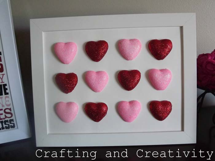 Foam Heart Art #valentine #dollarstore #diy #decor #decorhomeideas