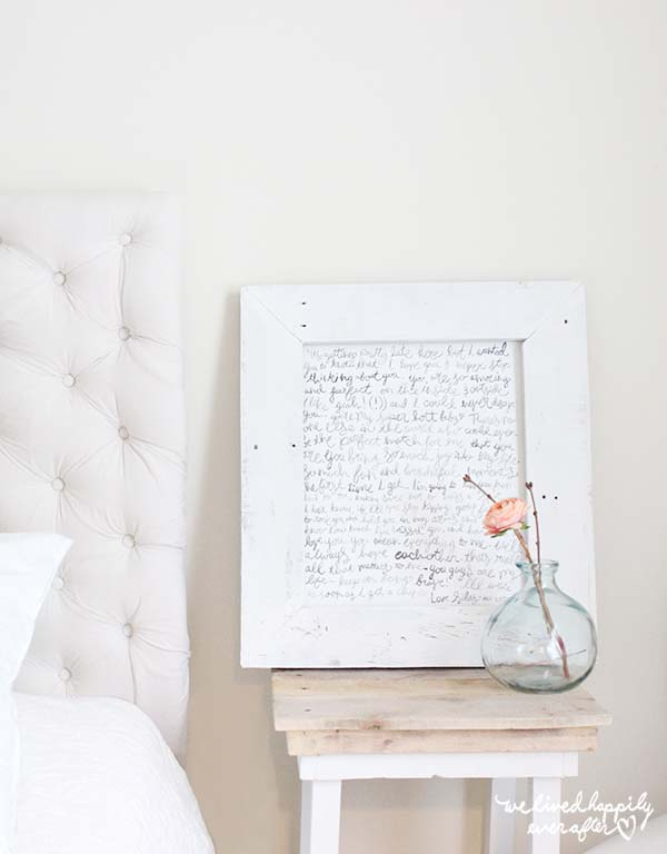 Framed Love Letter Art #valentinesday #rustic #decor #diy #decorhomeideas