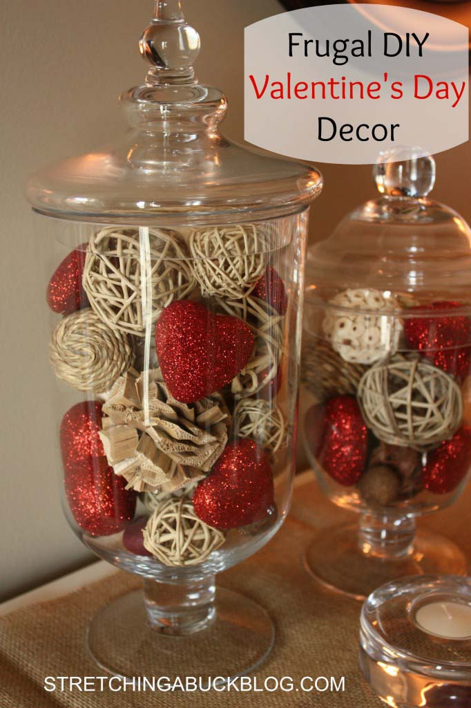 Frugal DIY Valentines Day Decor #valentinesday #rustic #decor #diy #decorhomeideas