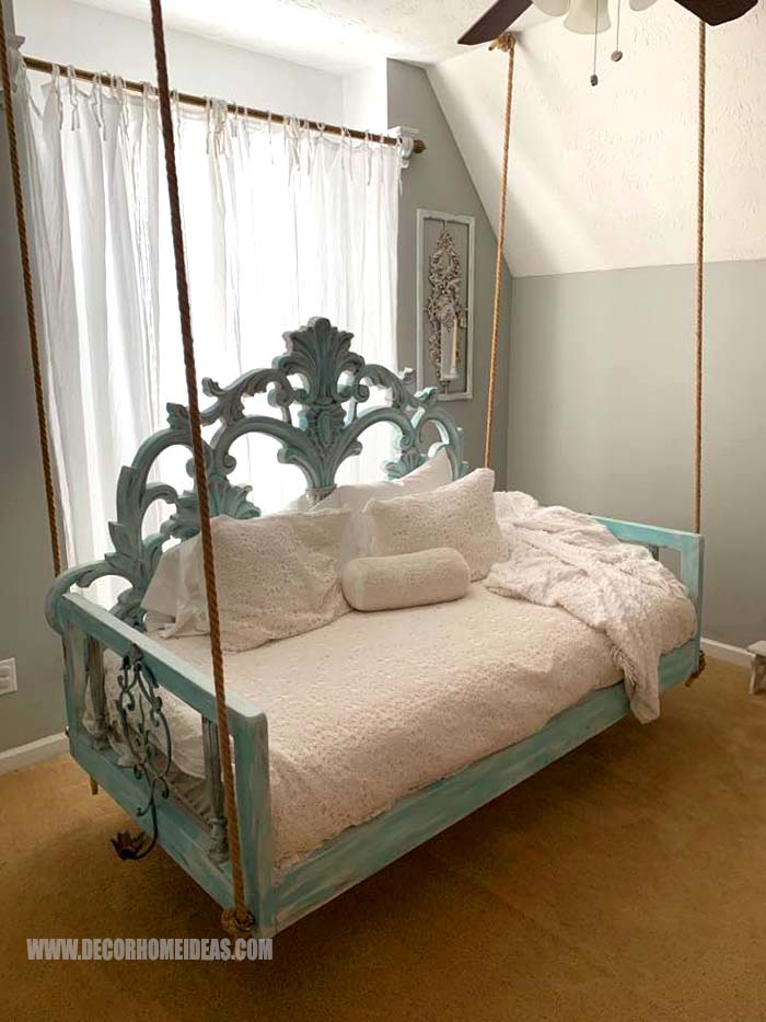 Headboard Swing Bed #diy #makeover #swingbed #swing #decorhomeideas