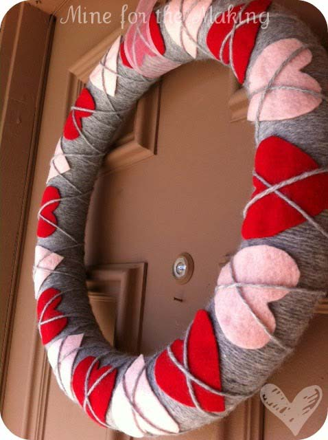 Heart Argyle Ribbon #valentine #diy #wreaths #decorhomeideas