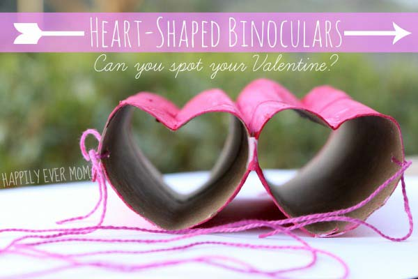 Heart Shaped Binoculars #valentine #crafts #kids #decorhomeideas