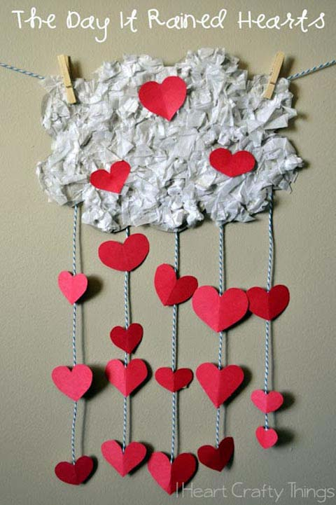 Hearts Valentine Day Decoration #valentine #crafts #kids #decorhomeideas