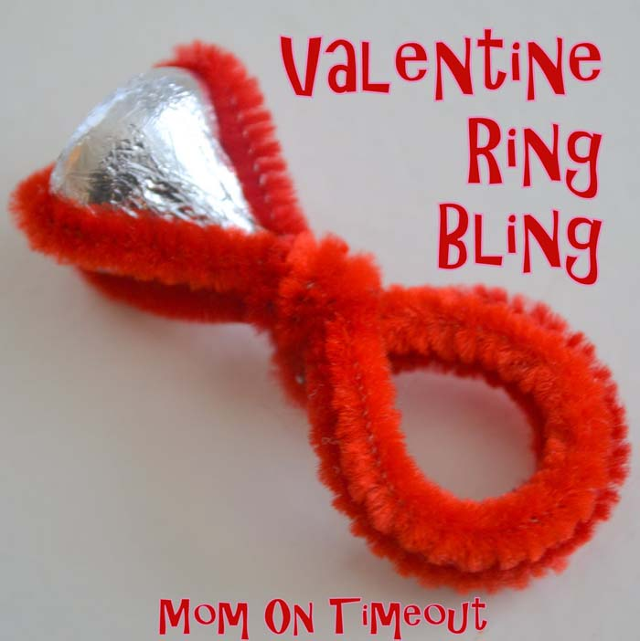 Hershey Kiss Rings #valentine #crafts #kids #decorhomeideas