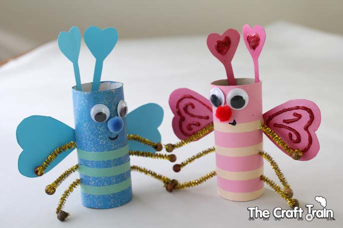 Love Bug Crafts #valentine #crafts #kids #decorhomeideas
