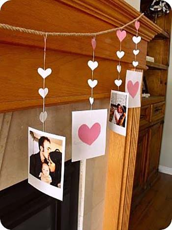 Love Photo Garland #valentine #dollarstore #diy #decor #decorhomeideas