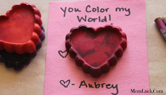 Melted Crayon Hearts #valentine #crafts #kids #decorhomeideas