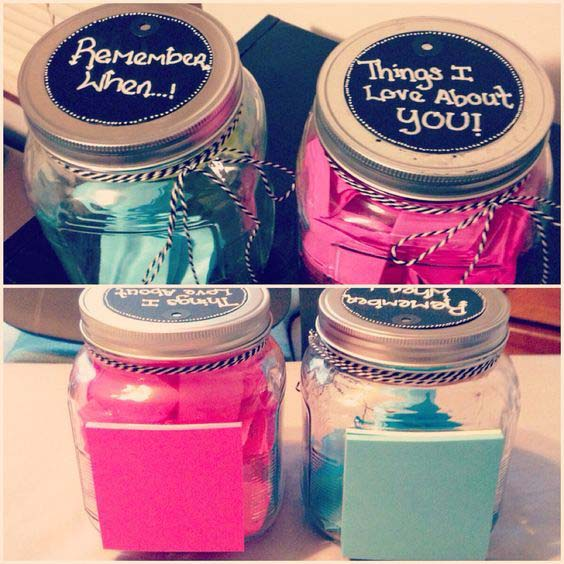 Memory Jars #valentinesday #crafts #jars #gifts #decorhomeideas