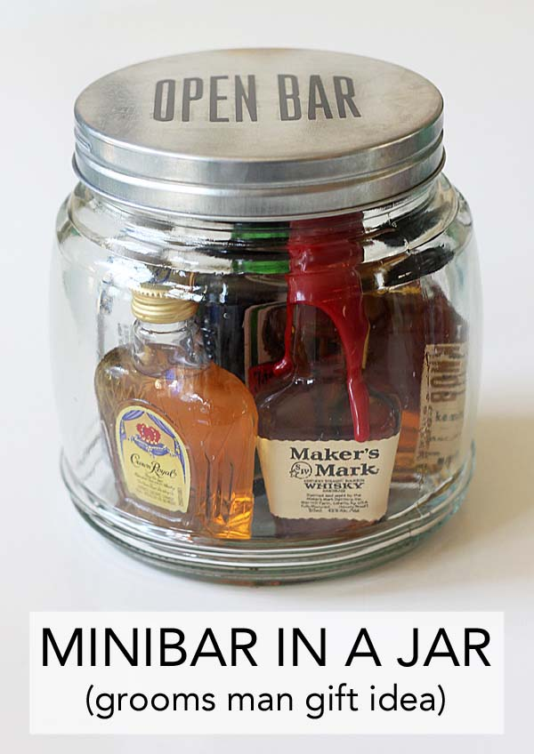Minibar In a Jar #valentinesday #crafts #jars #gifts #decorhomeideas