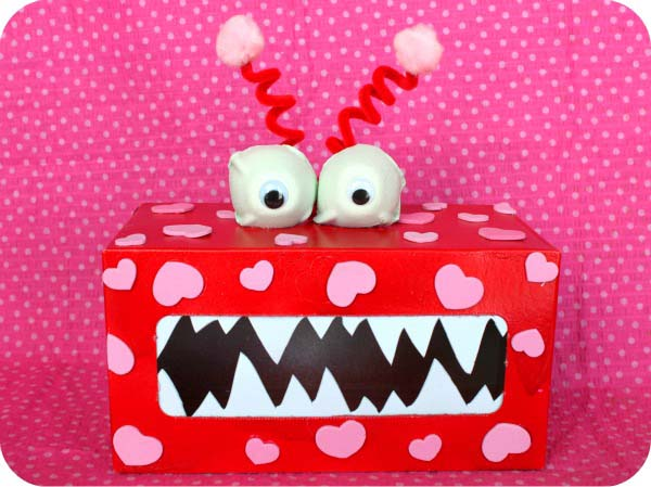 Monster Box #valentine #crafts #kids #decorhomeideas