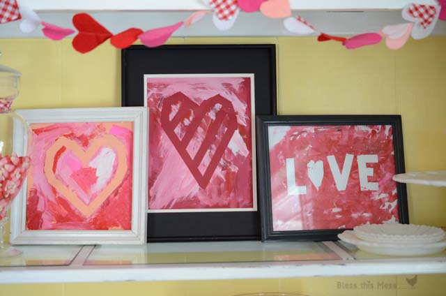 Painted Heart Craft #valentine #crafts #kids #decorhomeideas