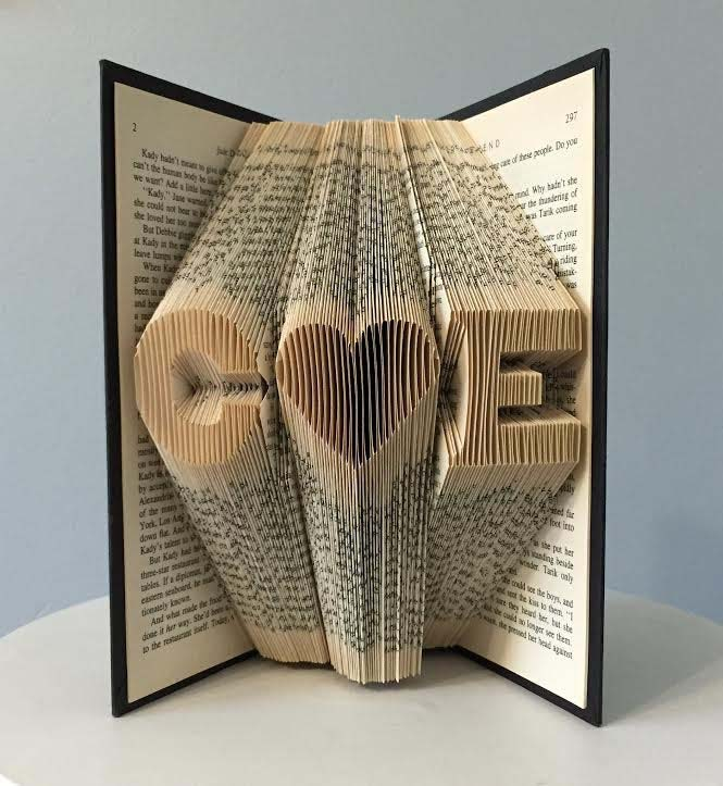 Personalized Folded Book Art #valentine #gifts #girl #woman #decorhomeideas