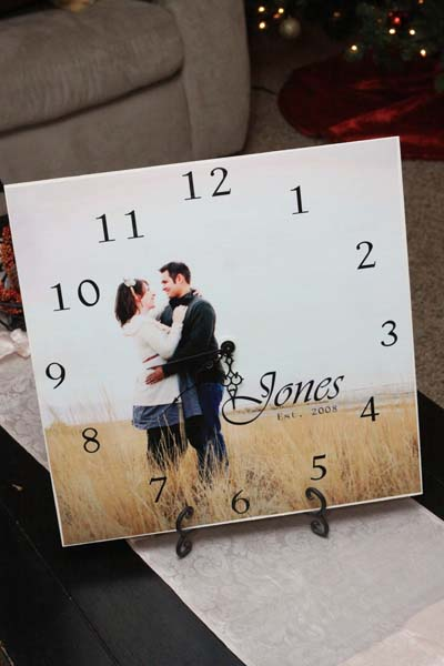 Photo Clock #valentinesday #gifts #diy #decorhomeideas