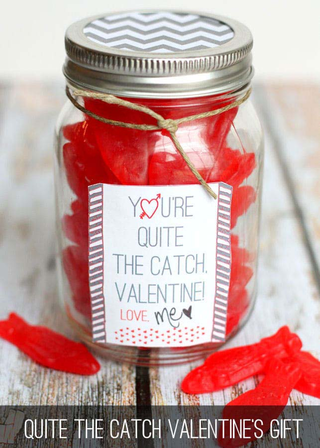 Quite the Catch Swedish Fish Gift #valentinesday #crafts #jars #gifts #decorhomeideas