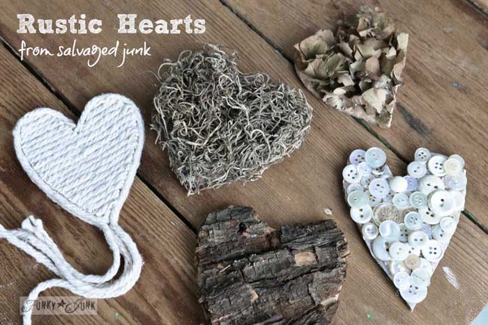 Rustic Hearts #valentinesday #rustic #decor #diy #decorhomeideas