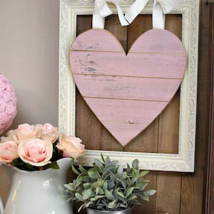 Rustic Pink Grey Mantel #valentinesday #rustic #decor #diy #decorhomeideas