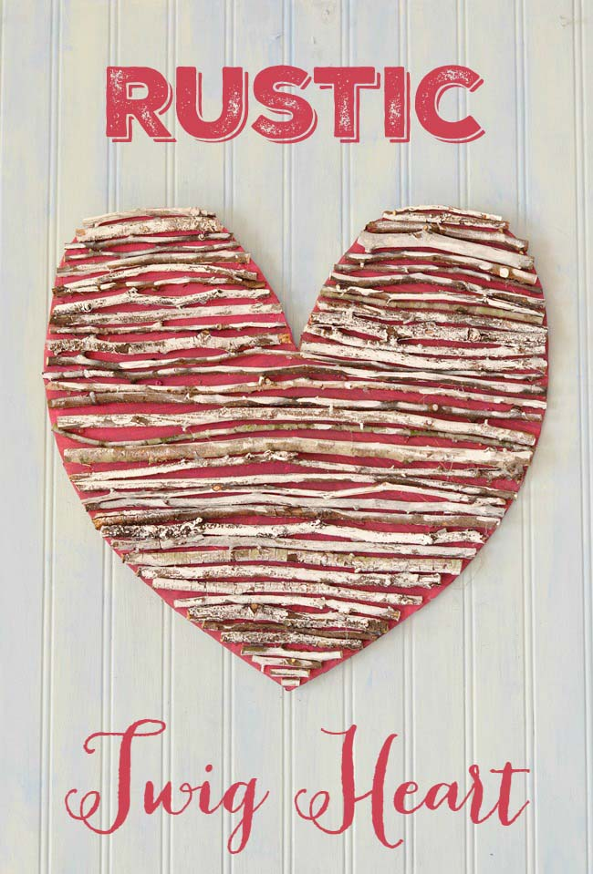 Rustic Twig Heart #valentinesday #rustic #decor #diy #decorhomeideas