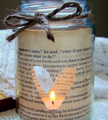 Rustic Valentines Day Candle #valentinesday #rustic #decor #diy #decorhomeideas