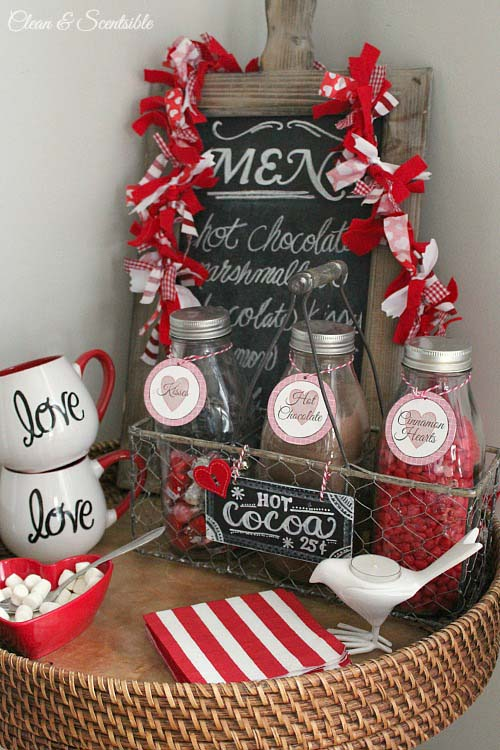 Rustic Valentines Day Coffee Station #valentinesday #rustic #decor #diy #decorhomeideas