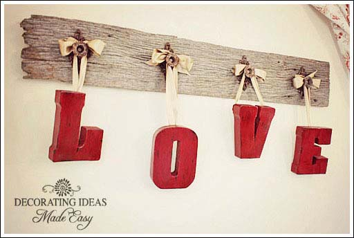 Rustic Valentines Day Decorations #valentinesday #rustic #decor #diy #decorhomeideas