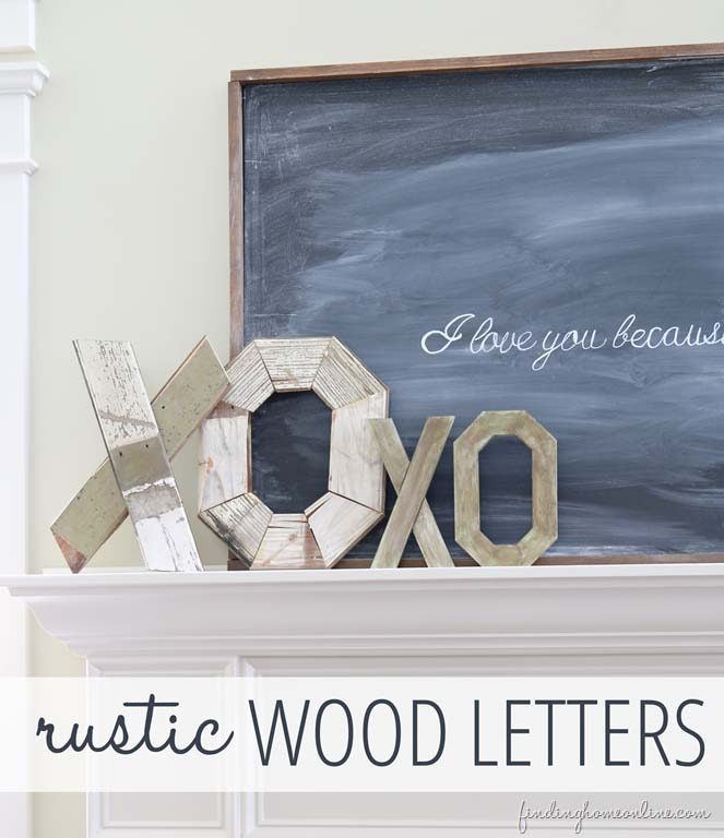Rustic Wood Letters #valentine #dollarstore #diy #decor #decorhomeideas