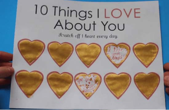 Scratch Off Hearts #valentinesday #gifts #diy #decorhomeideas