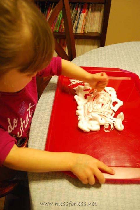 Shaving Cream Valentines #valentine #crafts #kids #decorhomeideas