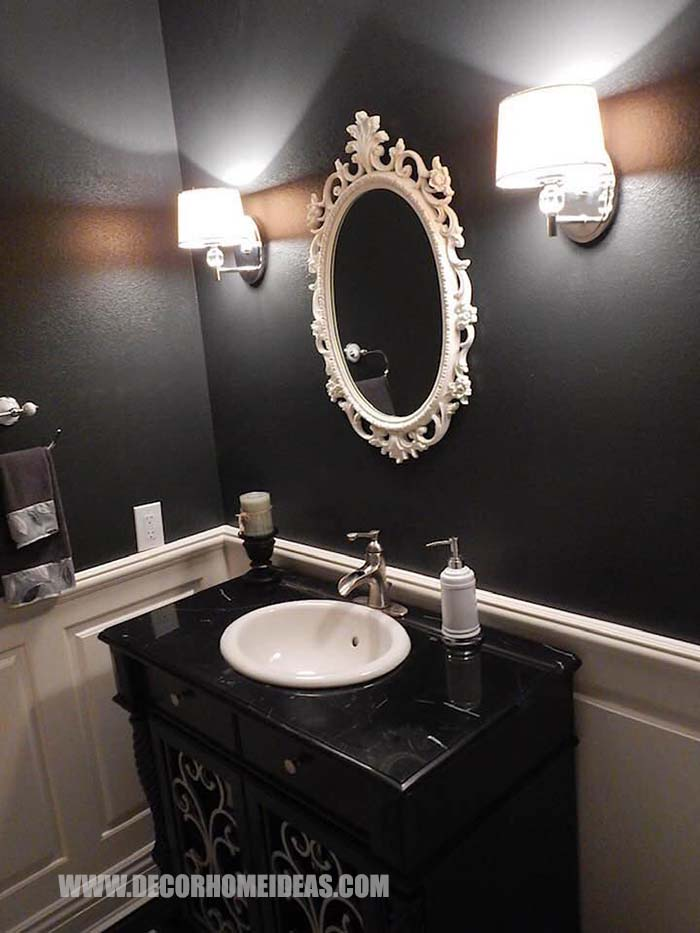 Small Bathroom Black Paint #black #paint #bathroom #small #decorhomeideas