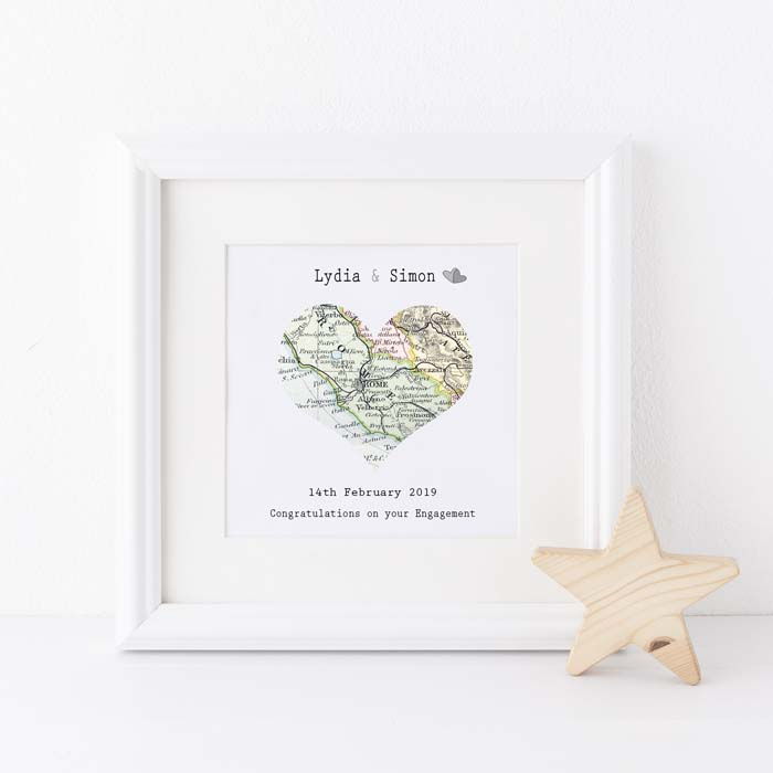 Special Location Framed Map #valentine #gifts #girl #woman #decorhomeideas