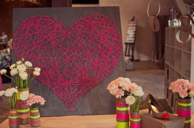 String Heart DIY #valentinesday #rustic #decor #diy #decorhomeideas