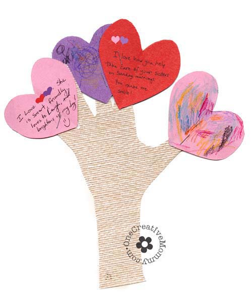 Valentine Crafts Love Tree #valentine #crafts #kids #decorhomeideas