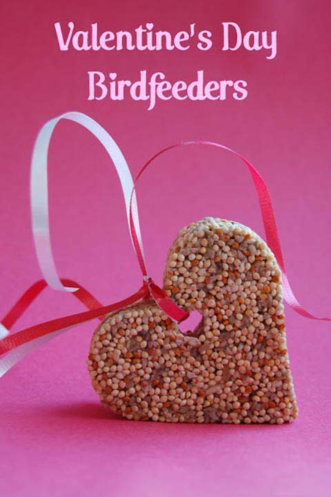 Valentine Day Bird Feeders #valentine #crafts #kids #decorhomeideas