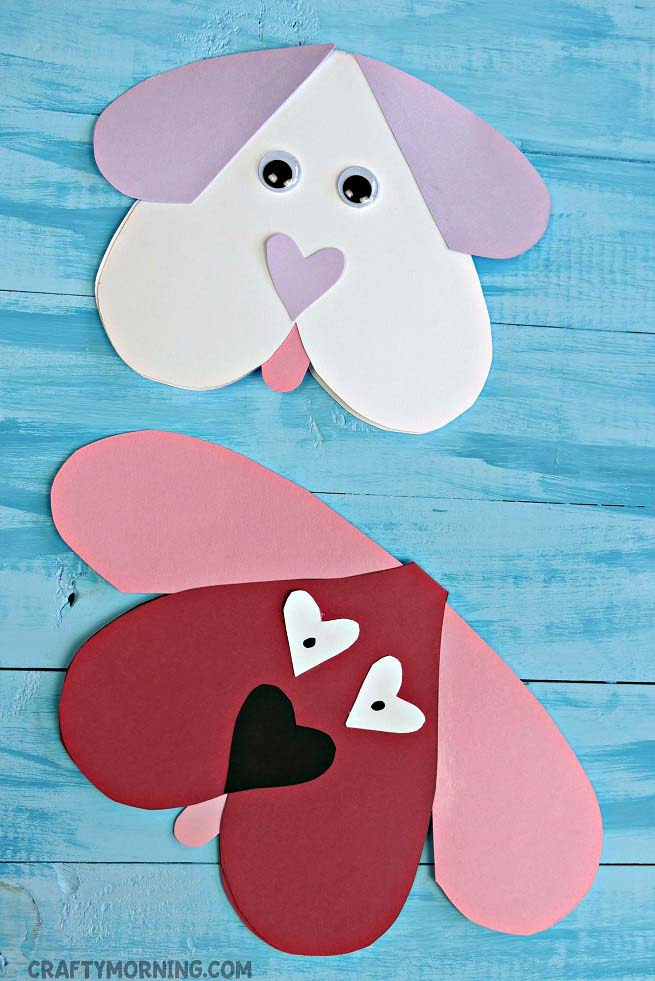 Valentine Dog Card #valentine #crafts #kids #decorhomeideas