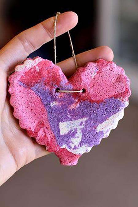 Valentine Marbled Salt Dough #valentine #crafts #kids #decorhomeideas