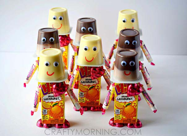 Valentine Robot Snacks for Kids #valentine #crafts #kids #decorhomeideas